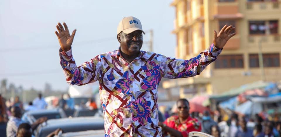 Raila Odinga at a BBI rally.