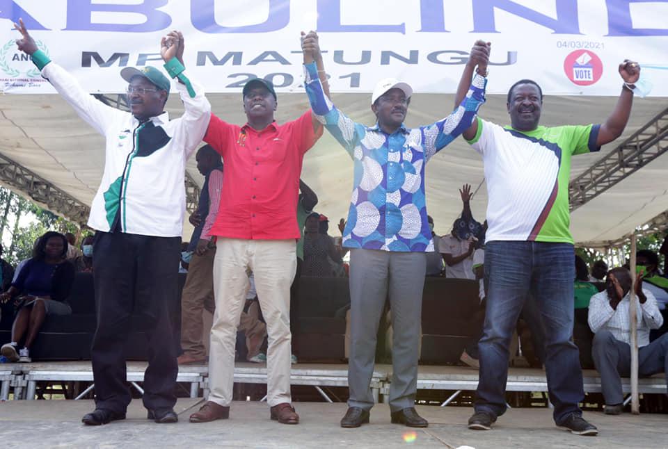 Kalonzo Musyoka, Moses Wetangula
