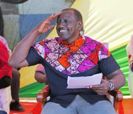 William Ruto on campaign trail
