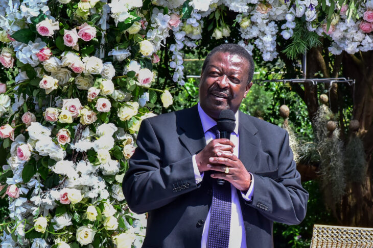 Amani National Congress party leader Musalia Mudavadi says Ruto and Raila's faces are filled with anger, which is not good for leadership.