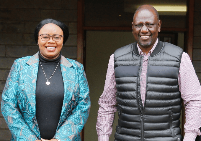 Gathoni wa Muchomba visited DP William Ruto at his Karen residence where they held talks and was welcomed into the Hustler nation. Photo: Courtesy.