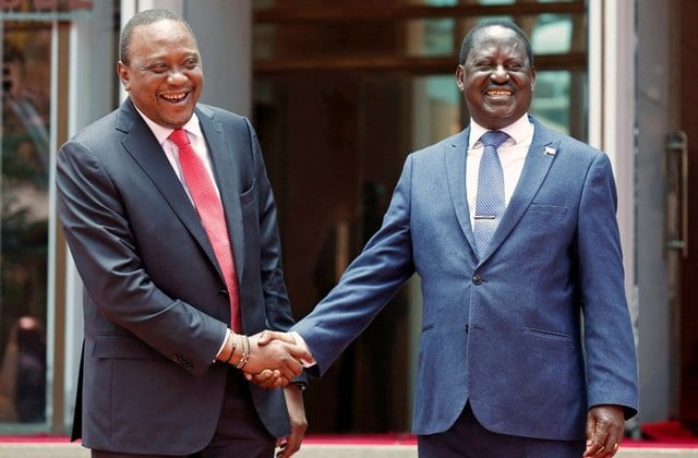 Uhuru's Jubilee Party is planning to form a coalition with Raila Odinga's ODM party.