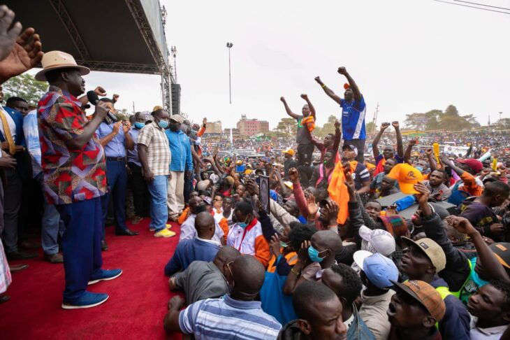 A section of Kenyan youths have asked ODM leader Raila Odinga to consider lowering the price of alcoholic drinks when he becomes the 5th President of Kenya.